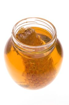 Free Fresh Honey With Honeycomb Royalty Free Stock Image - 3715256