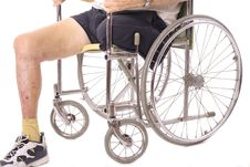 Free Eldery Man In Wheelchair Stock Photos - 3716493