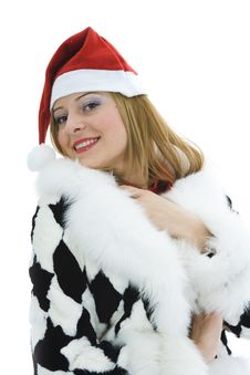 Beautiful Woman With Christmas Decoration Royalty Free Stock Images