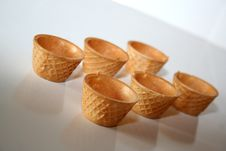Free Small Glasses Of Crispy Wafer Royalty Free Stock Image - 3718276