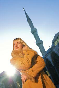 Free Girl In Lambskin Coat Royalty Free Stock Photography - 3718607