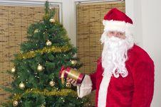 Free Santa With Gift Royalty Free Stock Photo - 3718725