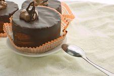 Three Chocolate Cake Stock Photos