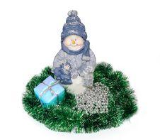 Free Snow Man Royalty Free Stock Photo - 3719135