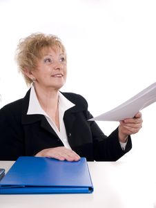Free Buisnesswoman With Documents Royalty Free Stock Photo - 3719835