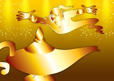 Free Genie In Gold Stock Image - 3719851
