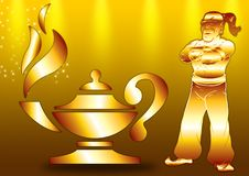Free Lamp With A Genie Royalty Free Stock Photos - 3719868