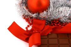 Free Xmas Chocolate Gift Stock Photography - 3719932