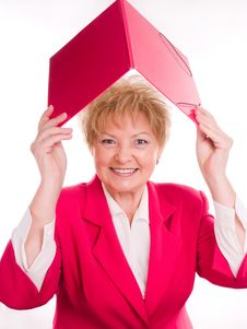 Free Smiling Woman And Folder Royalty Free Stock Photo - 3719975