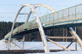 Free Old Footbridge Over The  Highway Royalty Free Stock Image - 37179316
