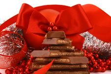 Free Xmas Chocolate Gift Royalty Free Stock Photo - 3720035