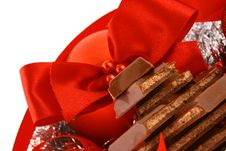 Free Xmas Chocolate Gift Royalty Free Stock Photos - 3720138