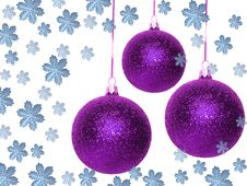 Free Violet Christmas Balls Stock Photos - 3720393