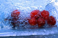 Free Red Fruits In Water Stock Image - 3722021