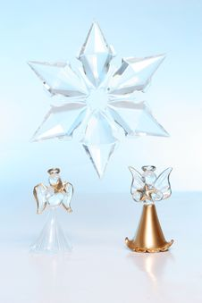 Free Two Glass Angels And Star Stock Photo - 3722460