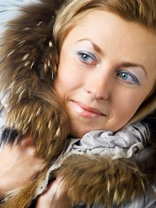 Free Girl In Fur Hood Stock Photo - 3722860
