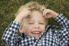 Free Boy In The Grass Stock Photos - 3723023