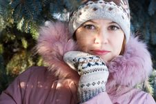 Free Winter Portrait Of Girl Stock Photos - 3723353