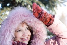 Free Winter Portrait Of Girl Stock Photography - 3723372
