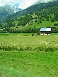 Free Alpine Countryside In Switzerland, Europe Royalty Free Stock Image - 3723376