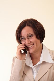 Free White Businesswoman With Handy, Smile Stock Photos - 3724043