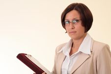 Free White Businesswoman With Notepad Stock Photo - 3724130