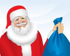 Free Santa With Presents (illustration) Royalty Free Stock Images - 3724169