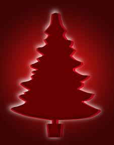 Free Red Christmas Tree Royalty Free Stock Photography - 3724557
