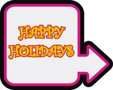 Free Happy Holidays Sign Royalty Free Stock Photos - 3724618
