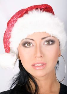 Free Beautiful Santa Girl Royalty Free Stock Photography - 3724687