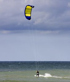Free Kite Surfer On Stormy Day Stock Photos - 3725483