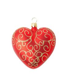 Free Red Christmas Decoration - Heart Stock Image - 3726331
