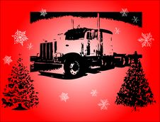 Free Christmas Truck Stock Image - 3726421