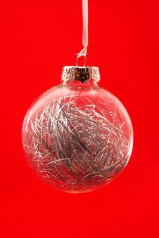 Free Clear Christmas Ornament Royalty Free Stock Photography - 3727007