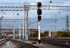 Free Traffic Light №4 & №50 On The Railway Stock Images - 3727234