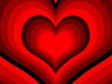 Rainbow Hearts Stock Images