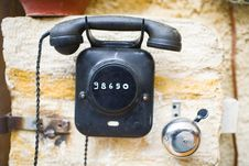 Free Phone On The Wall Stock Photography - 3727912