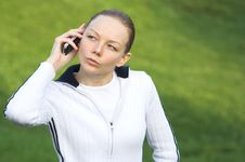 Free The Woman Holding A Cellphone Stock Photos - 3728503