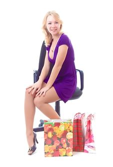 Free Shopping Lady Stock Photography - 3728622