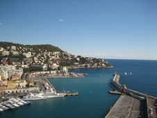 A Scenic Seaport In France Royalty Free Stock Image