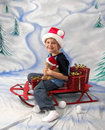 Free Sled Ride On Christmas Stock Photo - 3737220