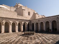 Free Courtyard At Arequipa, Peru Stock Images - 3730224