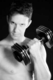 Free Weight Training Royalty Free Stock Photography - 3730317