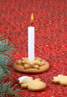 Christmas Candlestick Royalty Free Stock Photography