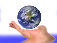Earth On A Palm Royalty Free Stock Images
