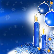 Free Blue Christmas Stock Photo - 3732120