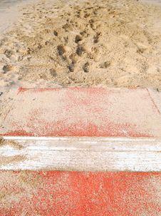 Free Long Jump Sandbox Stock Image - 3733381