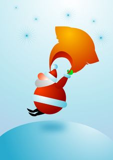 Free Santa From The Skies For Christmas Stock Photo - 3733420