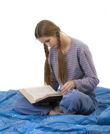 Free Reader On Blankets Royalty Free Stock Photos - 3733898
