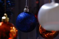 Free New-year`s Tree Decorations Stock Image - 3733951